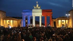 Brandenburg Gate in Berlin for France