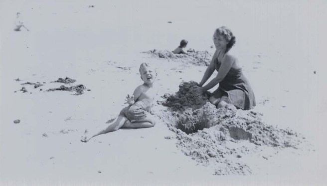 Donnie and Mother at beach