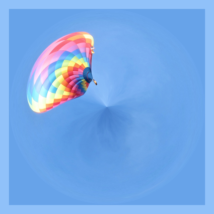 sun and cloud balloon orb