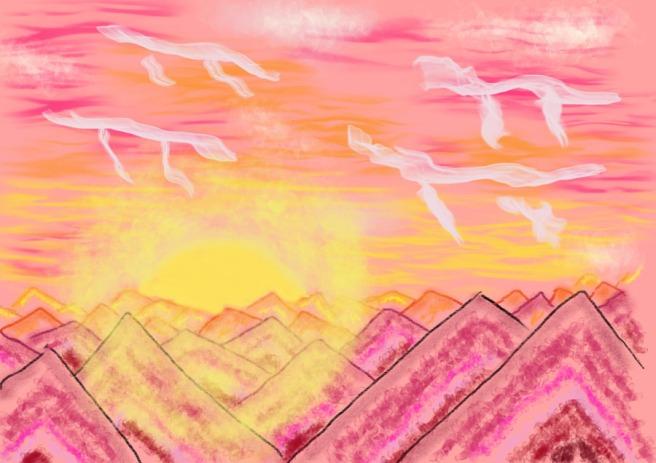 Mesa_sunset_UFO_clouds