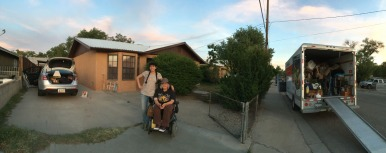 parting panorama with Jericha, Emily and goodbye last house