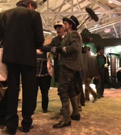 Hard working chimney sweep at the Dickens Fair