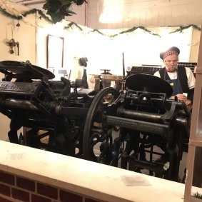 The old printing press