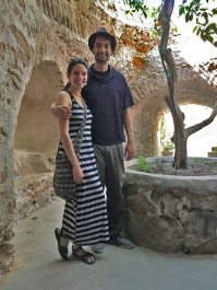 Jericha and Paco at Forestiere Underground Gardens