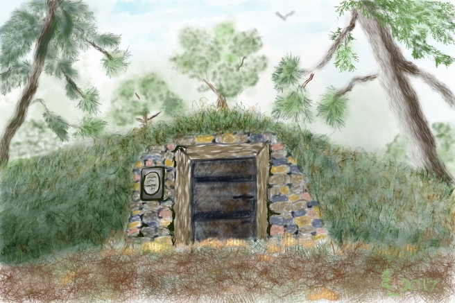 Tomb in woods