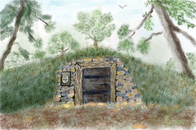 Tomb in woods